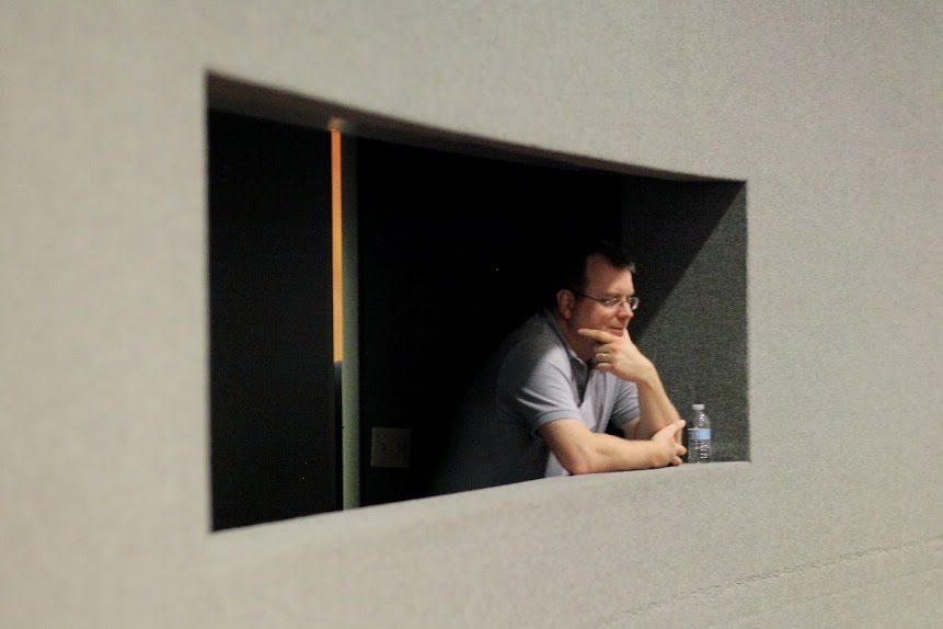 David Keener, in the Production Booth
